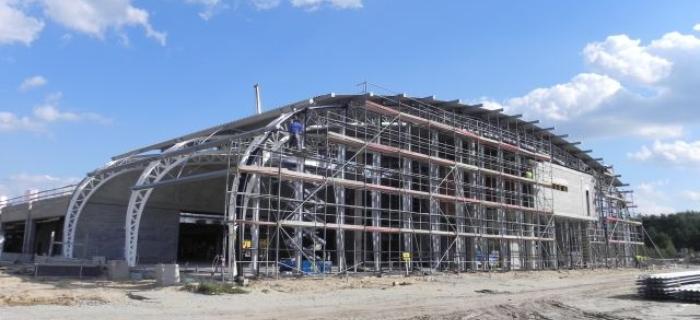 Budowa terminala lotiska w Modlinie  - wrzesień 2011r.