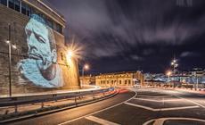 Mural w Starym Porcie w Marsylii